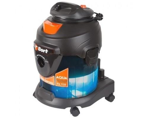 Bort Пылесос для сухой и влажной уборки BSS-1415-Aqua 15 л; 1400 Вт; 22 кПа;Пылесос для влажной уборки ; 6,6 кг; 220...230 В; набор аксессуаров 5 шт 93410174