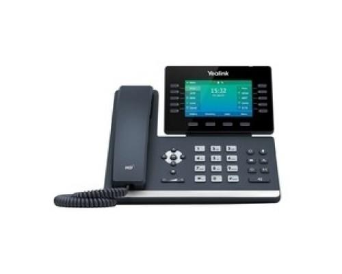 YEALINK SIP-T54W SIP-телефон, цветной экран 4.3, 16 SIP аккаунтов, Wi-Fi, Bluetooth, Opus, 10*BLF, PoE, USB, GigE, БЕЗ БП