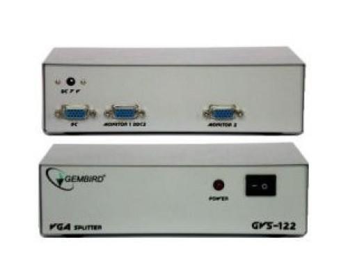 GVS122 сигнала VGA на 2 монитора (Gembird)