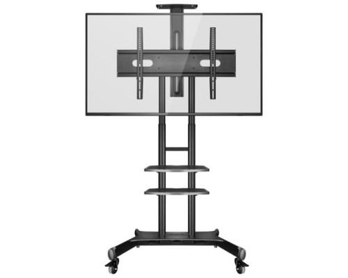 ONKRON TS1881 чёрная 2 полки для AV в комплкте Для телевизоров диагональю 55-80 Максимальная нагрузка: 90,9 кг VESA: 200x200, 200x300, 200x400, 300x100, 300x200, 300x300, 300x400, 400x200, 400x300,