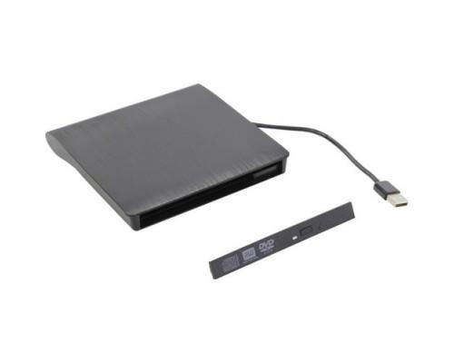 ORIENT UHD12A2, USB 2.0 контейнер для птического привода ноутбука 12.7 мм, установка ODD без отвертки, встроенный USB кабель, питание от USB, черный (30839)