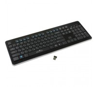 Oklick 870S черный USB беспроводная slim Multimedia 368218
