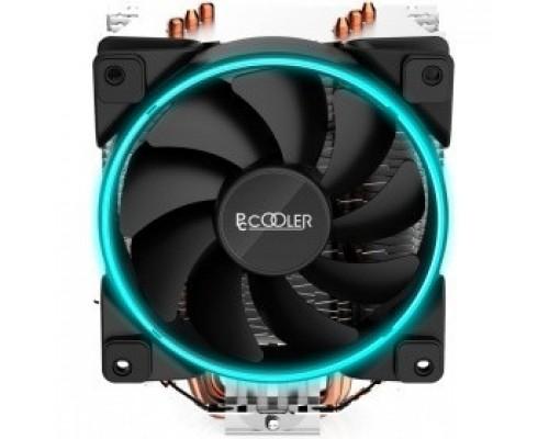 PCCooler GI-X3B Кулер GI-X3B S775/115X/AM2/AM3/AM4 (24 шт/кор, TDP 125W, вент-р 120мм с PWM, 3 тепловые трубки 6мм, синяя LED Fan подсветка, 1000-1800RPM, 26.5dBa)