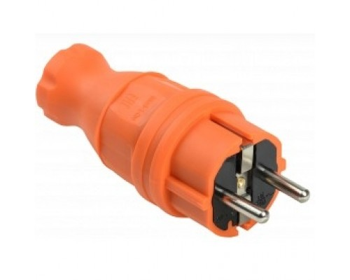 Iek PKR01-016-2-K09 ВБп3-1-0м Вилка прямая ОМЕГА IP44 оранжевая