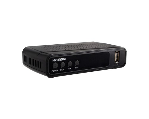 Ресивер DVB-T2 Hyundai H-DVB520 черный