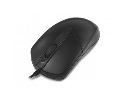 CBR CM 211 Black, проводная, оптическая, USB, 1000 dpi, 3 кнопки и колесо прокрутки, переходник с USB на PS/2 в комплекте, длина кабеля 1,8 м, цвет чёрный