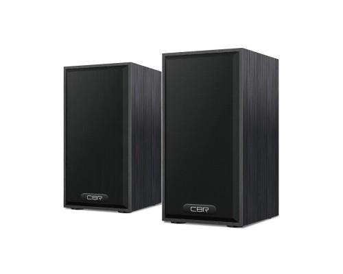 CBR CMS 635 Black, Акустическая система 2.0, питание USB, 2х3 Вт (6 Вт RMS), материал корпуса MDF, 3.5 мм линейный стереовход, регул. громк., длина кабеля 1 м, цвет чёрный