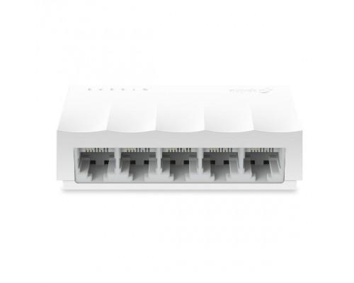 TP-Link LS1005 5-портовый 10/100 Мбит/с неуправляемый коммутатор, 5 портов RJ45 10/100 Мбит/с SMB