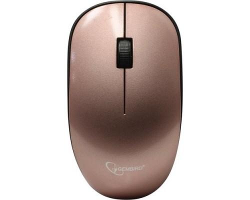 Gembird MUSW-111-RG беспроводная, розовое золото, 2кн.+колесо-кнопка, 1200DPI, 2.4ГГц