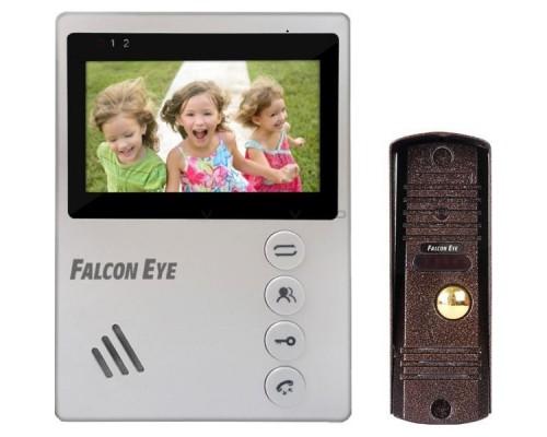 Falcon Eye KIT- Vista Комплект. Видеодомофон: дисплей 4 TFT; механические кнопки; подключение до 2-х вызывных панелей; OSD меню; питание AC 220В (встроенный БП)