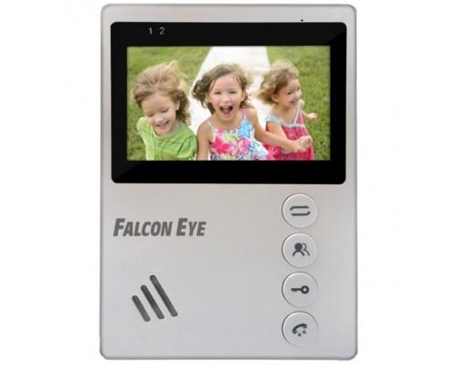 Falcon Eye Vista Видеодомофон: дисплей 4,3 TFT; механические кнопки; подключение до 2-х вызывных панелей; OSD меню; питание AC 220В (встроенный БП) или от внешнего БП DC 12В
