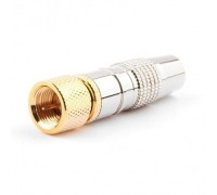 Cablexpert Разьем F (папа), позолоченный, латунь OD8.5, блистер (SPL6-04)