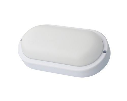 Ultraflash LBF-0401S C01 (Св-к LED влагозащищённый с датчиком движения, 12 Вт, IP54, 220В, овал)