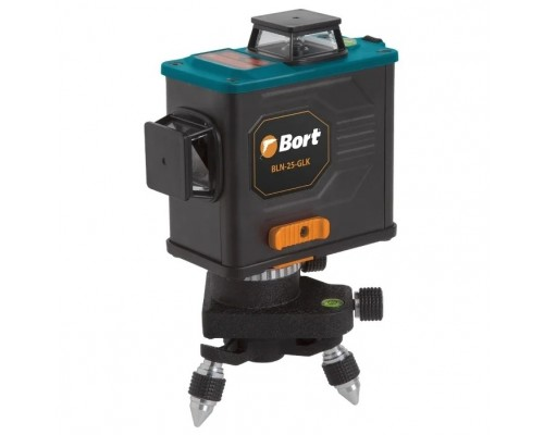 Bort BLN-25-GLK Уровень лазерный автоматический 93410952 Рабочий диапазон 25 м; Рабочий диапазон с приемником (диаметр) 50 м;Точность, мм/м 0,02 мм ; Угол разворота горизонтального луча 360 °.