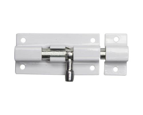 ЗУБР Задвижка накладная для окон и мебели ШП-60 БЦ, цвет белый/цинк, 60мм 37751-60