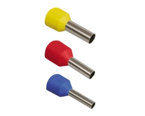 Iek UGN10-001-03-12 Наконечник-гильза Е1012 1мм2 с изолированным фланцем (темно-красный) (100 шт)