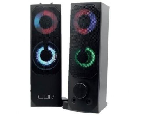 CBR CMS 514L Black, Акустическая система 2.0, питание USB, 2х3 Вт (6 Вт RMS), пластик, RGB-подсветка, конструкция-транформер, 3.5 мм лин. стереовход, регул. громк., длина кабеля 1,3 м, цвет чёрный