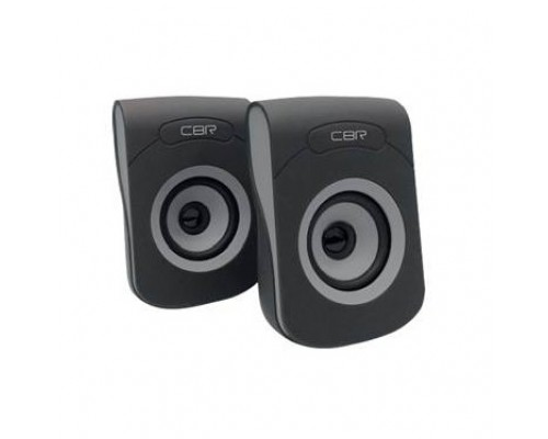 CBR CMS 366 Grey, Акустическая система 2.0, питание USB, 2х3 Вт (6 Вт RMS), материал корп. пластик, покрытие софт-тач, 3.5 мм лин. стереовход, регул. громк., длина кабеля 1,2 м, цвет чёрный-серый