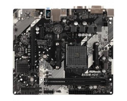 ASROCK B450M-HDV R4.0 RTL AMD B450, 2xDDR4, 2xPCI-Ex16, PCI-Ex1, D-SUB, HDMI, DVI, SATAIII+