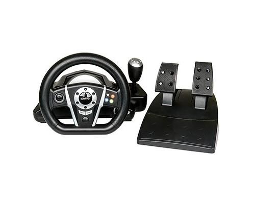 Dialog Игровой руль GW-135VR GranTourismo - эф.вибрации, 2 педали, рычаг ПП, PC USB