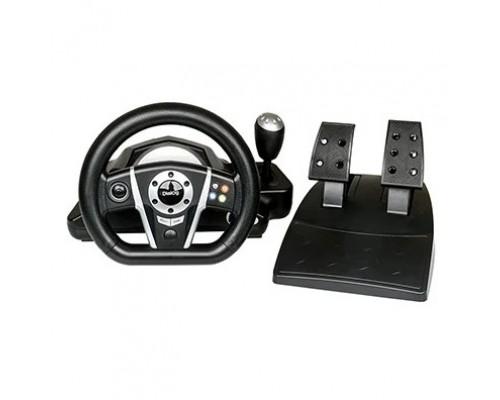 Dialog Игровой руль GW-235VR GranTourismo- вибро, 2педали+рычаг, PC USB/PS4&3/XB1&360/Android/Switch