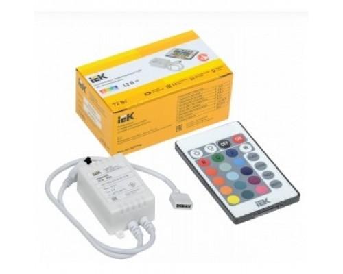 Iek LSC1-RGB-072-IR-20-12-W Контроллер с ПДУ ИК RGB 3 канала 12В 2А 72Вт