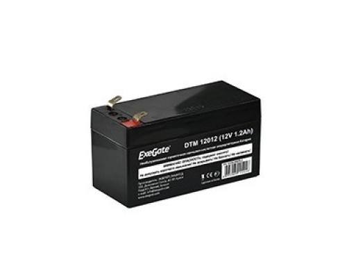 Exegate EX282956RUS Аккумуляторная батарея DTM 12012 (12V 1.2Ah, клеммы F1)