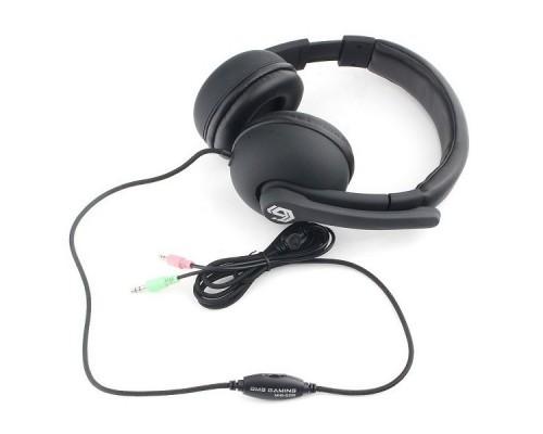 Gembird MHS-G220, код Printbar, черный, soft touch,регулировка громкости, каб 2м