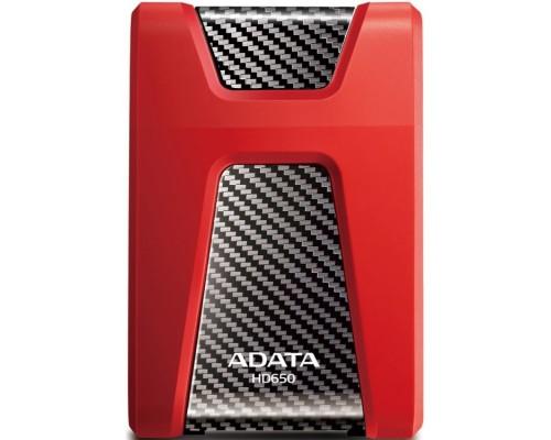 Жесткий диск A-Data USB 3.0 1Tb AHD650-1TU31-CRD HD650 DashDrive Durable 2.5 красный
