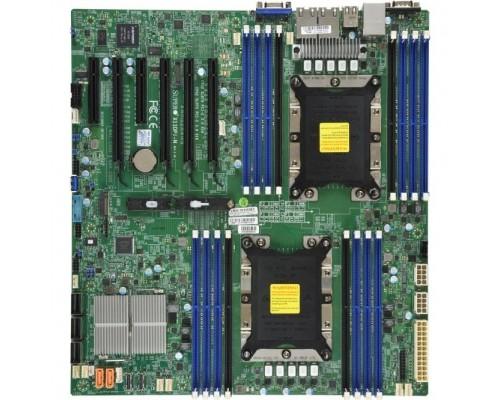 SuperMicro MBD-X11DPI-N-B Серверная материнская плата X11DPi N Motherboard Dual Socket P (LGA 3647) supported, CPU TDP support 205W, 2 UPI up to 10.4 GT/s Bulk.