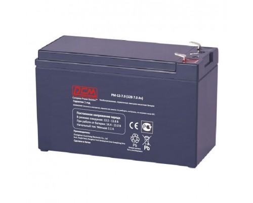 Powercom Аккумуляторная батарея PM-12-7.0 12В 7.0Ач