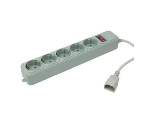 PC PET Сетевой фильтр AP01006-E-G 1.8м (5 розеток) серый