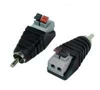 Rexant (14-0413-2) Разъем штекер RCA с быстрозажимной колодкой (блистер)