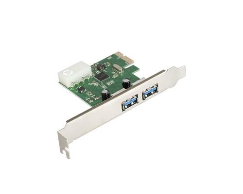 Exegate EX283718RUS Контроллер EXE-319 PCI-E 2.0, 2*USB3.0 ext, разъем доп.питания (OEM)