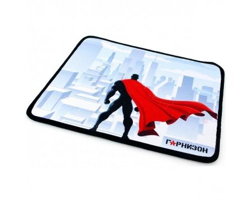 Коврик для мыши Гарнизон GMP-145, рисунок- супергерой, размеры 250*200*3мм, ткань+резина, оверлок