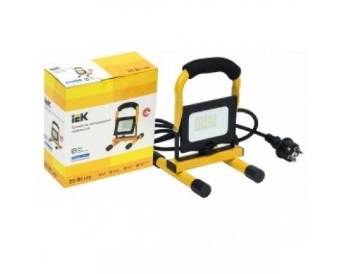 Iek LPDO603-020-65-K02 Прожектор LED СДО 06-20П переносной 6500К IP65 черный