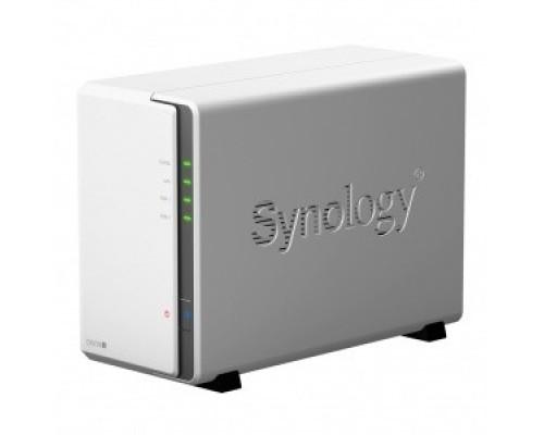 Synology DS220j Сетевое хранилище, настольное исполнение 2BAY NO HDD USB3