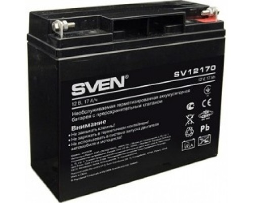 Sven SV12170 (12V 17Ah) батарея аккумуляторная