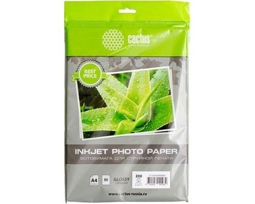 Фотобумага Cactus CS-GA418050ED глянцевая/A4/180г/м2/50л./белый для струйной печати