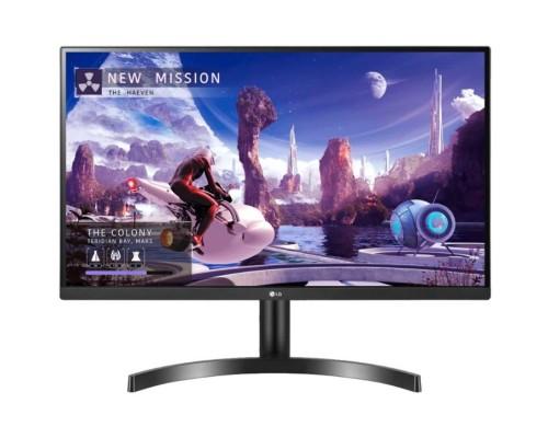 LCD LG 27 27QN600-B черный IPS 2560x1440 75Hz 5ms 178/178 8bit(6bit+FRC) 350cd 1000:1 HDR10 Headph.Out vesa