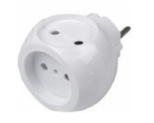 Rexant 11-1063 Тройник электрический «Шар» 220 В 6 А белый