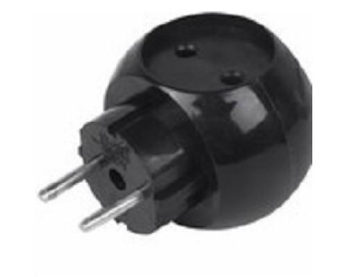Rexant 11-1063-1 Тройник электрический «Шар» 220 В 6 А черный
