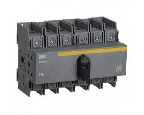 Iek MVR30-3-063 Выключатель-разъединитель модульный на 2 направления ВРМ-3 3P 63А