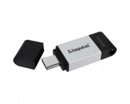 Kingston USB Drive 64GB USB 3.2 Gen 1, USB-C Storage DT80/64GB