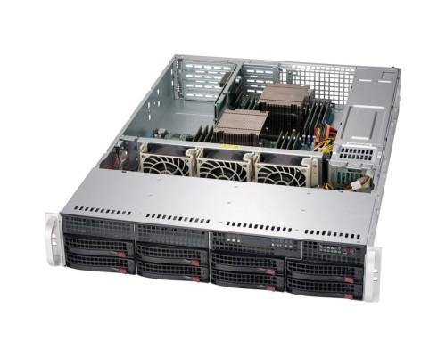 """Supermicro CSE-825TQC-R802LPB 2U SC825TQC 8 x 3.5"""" hot-swap SAS3/SATA LP Chassis w/ Red. 800W PWS"""