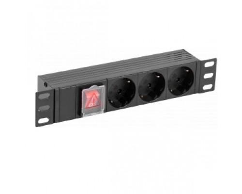 ITK PH12-3D3-P PDU 3 розетки нем. ст. LED 1U вх. С14 10