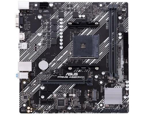 Asus PRIME A520M-K RTL Soc-AM4 AMD A520 2xDDR4 mATX AC`97 8ch(7.1) GbLAN RAID+VGA+DVI+HDMI
