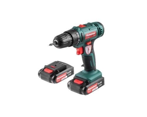 Hammer Flex ACD14BS Аккум.дрель 680328 14,4В 2x2 Ач 10мм 0-350/0-1350об/мин 38Нм в кейсе быстр зарядка