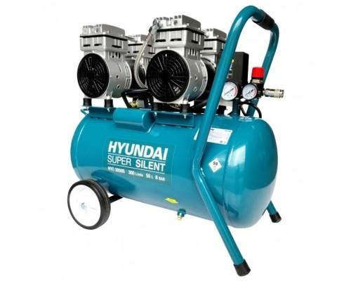 HYUNDAI HYC 3050S Компрессор поршневой, безмасляный 300 л/мин, 230 В, 1400 об/мин., ресивер 50 л, поршней 4 шт., давление 8 бар., 36.5 кг