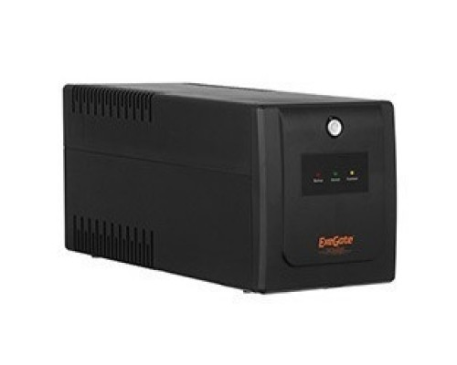 Exegate EP285602RUS ExeGate SpecialPro UNB-600.LED.AVR.C13.RJ <600VA/360W, LED, AVR, 4*IEC-C13, RJ45/11, Black>